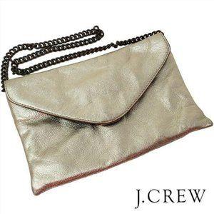 J.CREW FACTORY | Gold Metallic Envelope Clutch